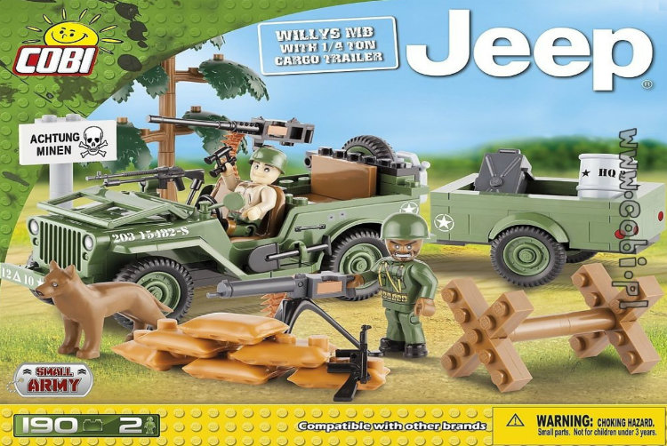 Jeep Willys MB with 1/4 Ton Cargo Trailer